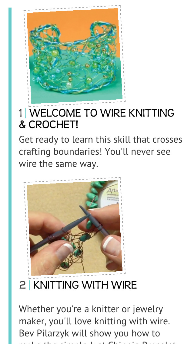 Introduction to Wire Knitting & Crochet screenshot 2