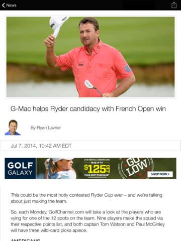 Golf Channel screenshot 9