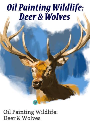 Oil Painting Wildlife: Deer & Wolves screenshot 8