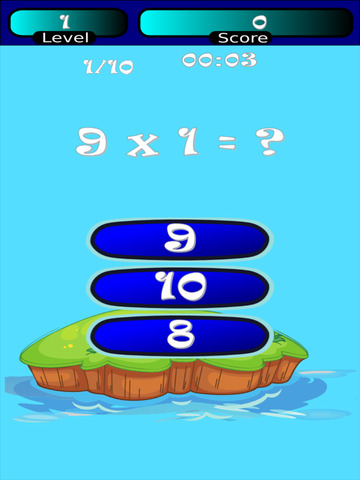 Times Tables Math Trainer HD screenshot 2