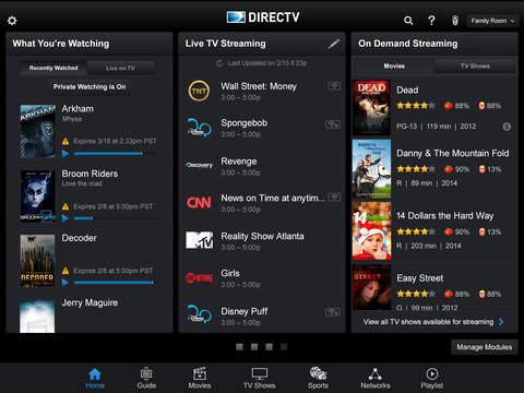 DIRECTV App for iPad screenshot 1