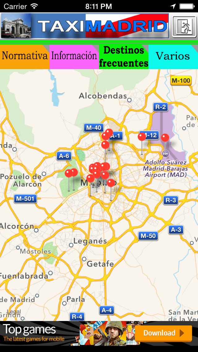 TaxiMadrid - ayuda al profesional del taxi de Madrid screenshot 3