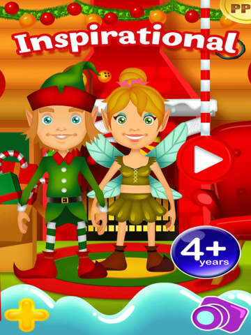 My Magic Little Elf and Fairy Princess Dream Xmas Party Adventure Free Dress Up Game screenshot 6