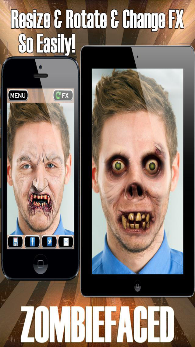 ZombieFaced Pro Edition -The Scary Zombie & Horror FX Face Booth screenshot 2