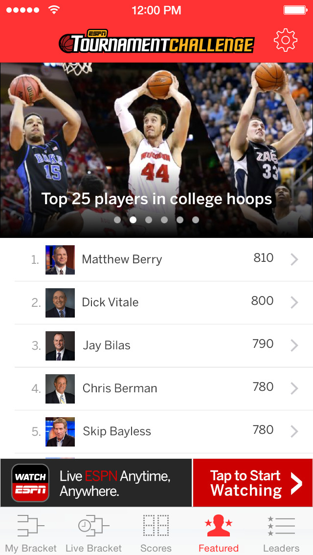 ESPN Tournament Challenge screenshot 4