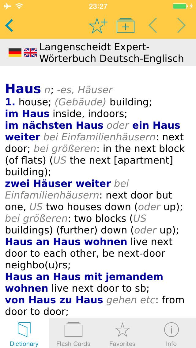 German English XXL Dictionary screenshot 1