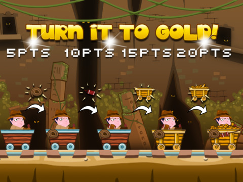 ``Action Race of Jumpy Temple Jones: Mine-Cart Rail Escape Racing Free screenshot 6
