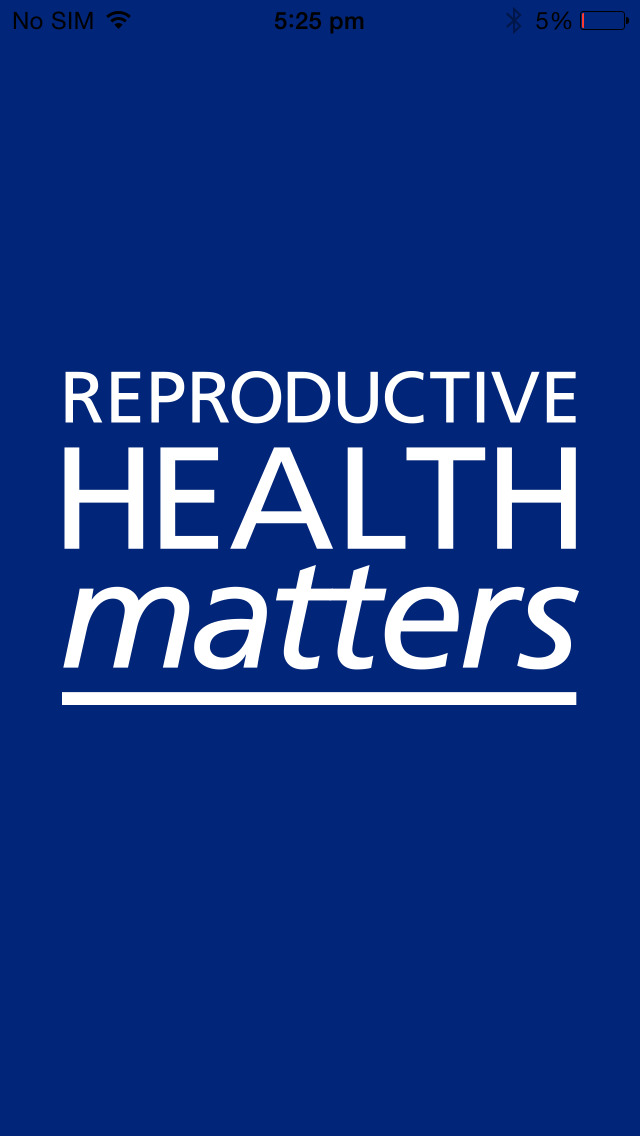 Reproductive Health Matters screenshot 1