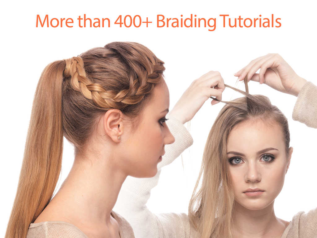 hair styles braids step by step app shopper wow hairstyles 400 braid hair tutorials for 3373