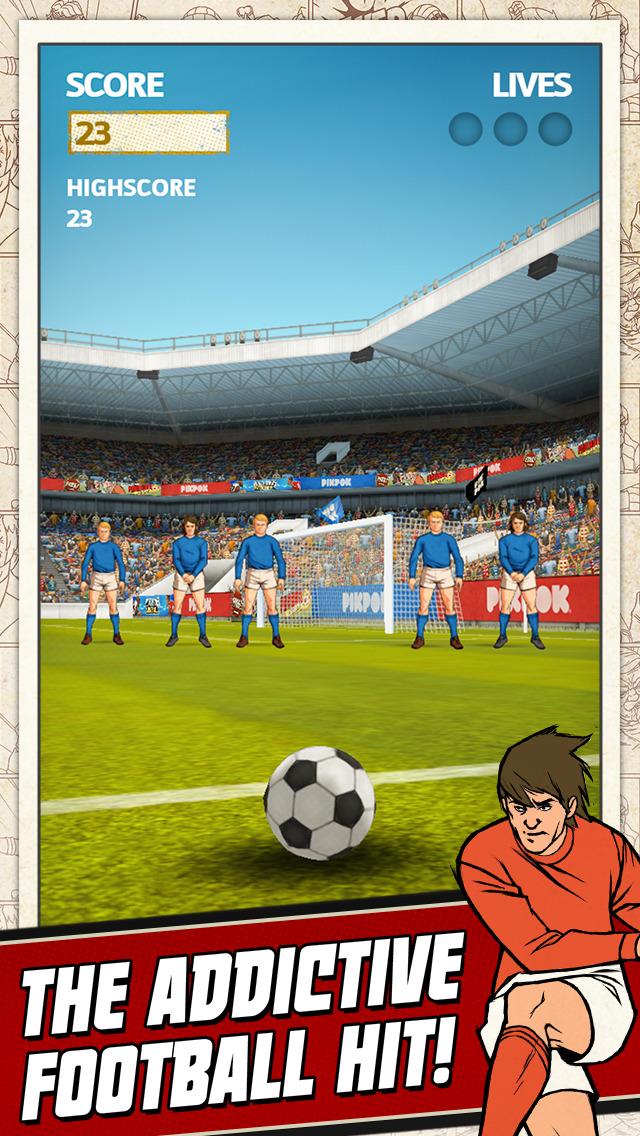 Flick Kick Football Kickoff screenshot #1