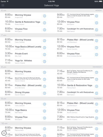 Sellwood Yoga App screenshot 4