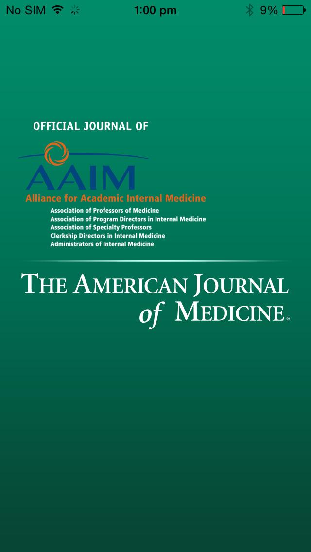 The American Journal of Medicine screenshot 1