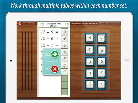 Montessori Subtraction Tables screenshot 9