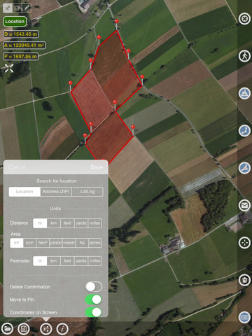 Planimeter - GPS area measure screenshot 7
