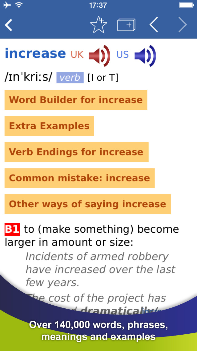 Cambridge English Dictionary screenshot 2