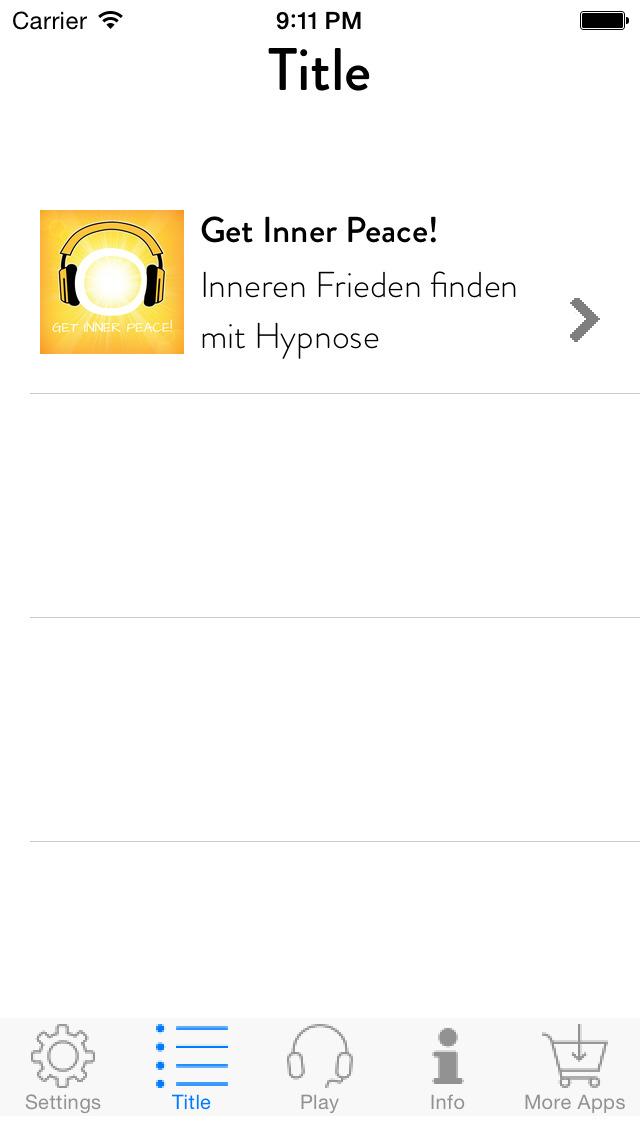 Get Inner Peace! Inneren Frieden finden mit Hypnose screenshot 2