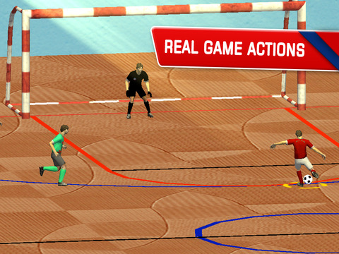 Futsal 2015 - Indoor football arena game with real soccer tournaments and leagues by BULKY SPORTS [Premium] screenshot 9