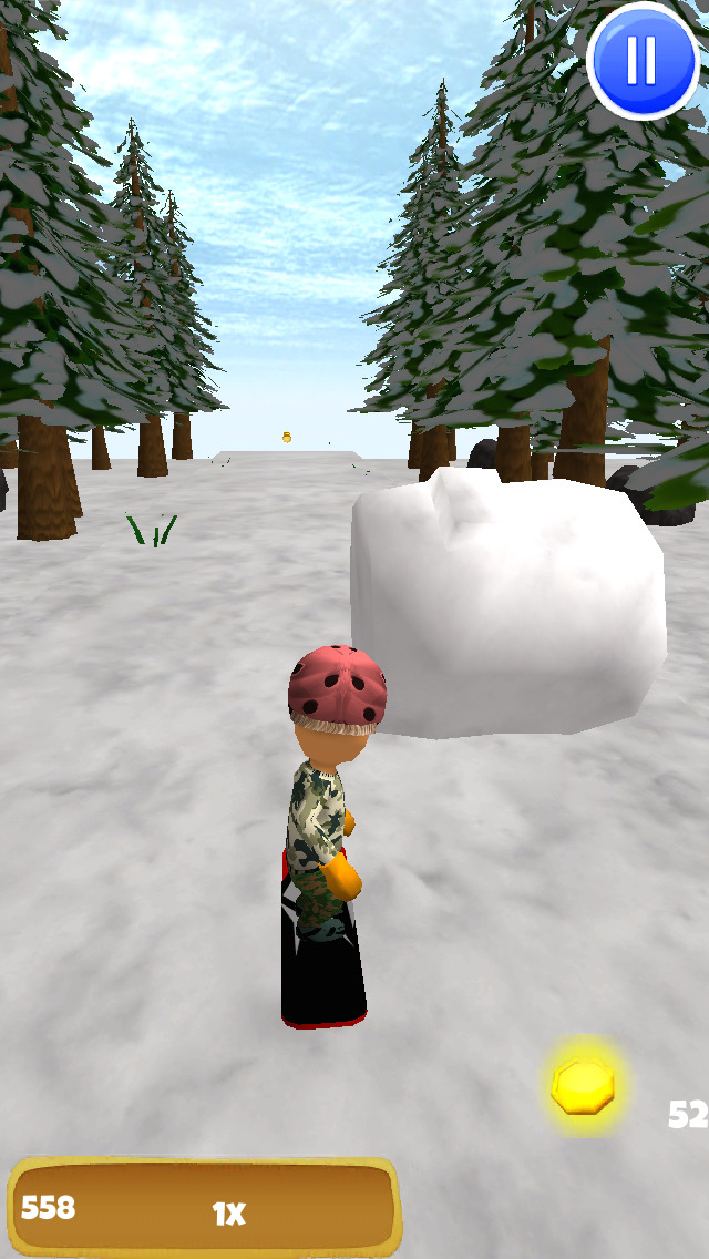 A Freestyle Snowboarder: Extreme 3D Snowboarding Game - FREE Edition screenshot 2