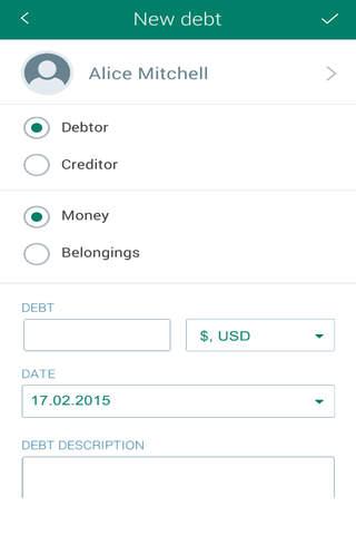 Debts Tracker GOLD - náhled