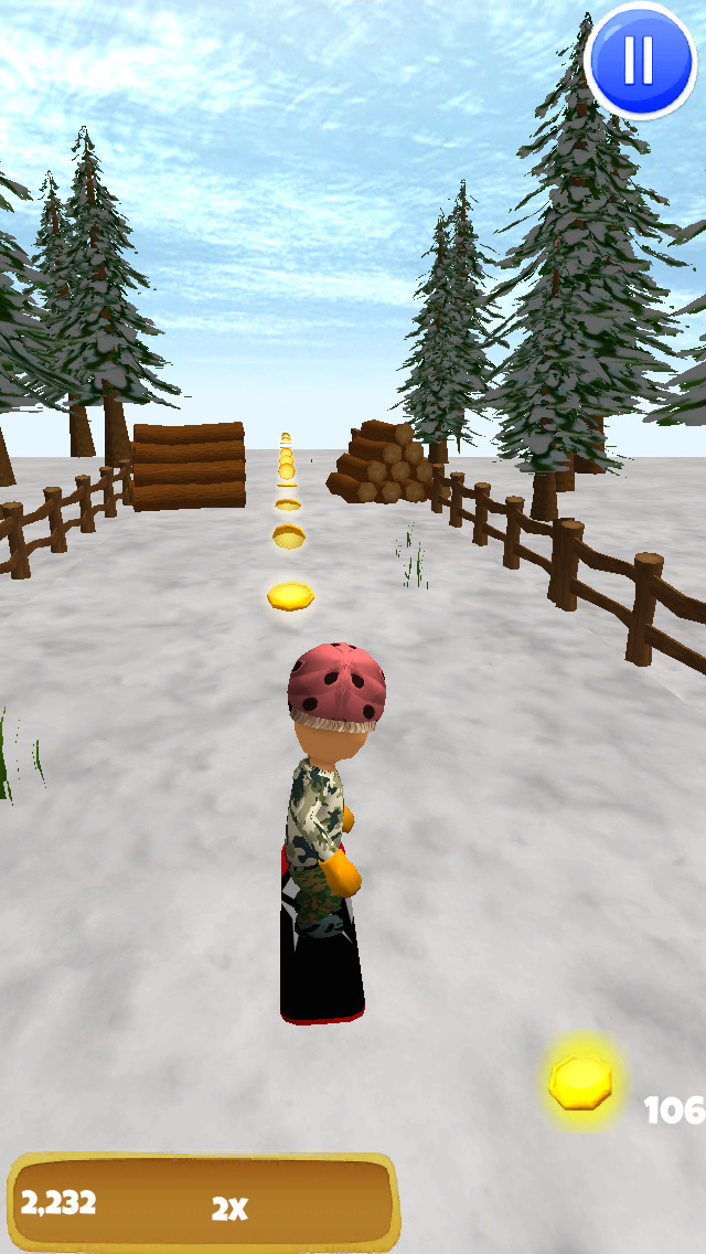 A Freestyle Snowboarder: Extreme 3D Snowboarding Game - FREE Edition screenshot 3