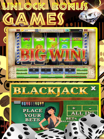 A Africa Slots of Sun 777 (Kalahari Lucky Bonus Wheel Casino Game) Free screenshot 9