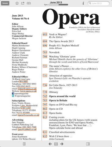 Opera Magazine screenshot #2