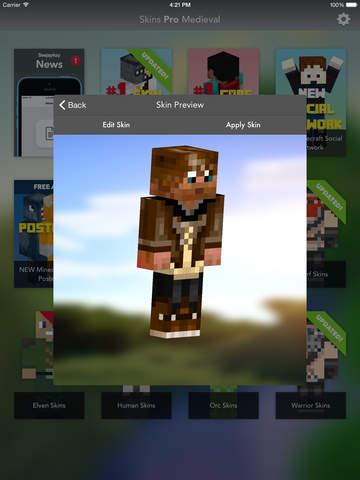 Skins Pro Medieval - Minecraft screenshot 7