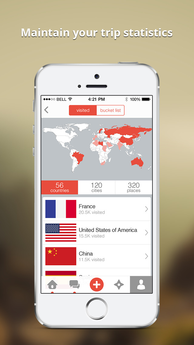 ShutterBee - map and share your travels screenshot 2