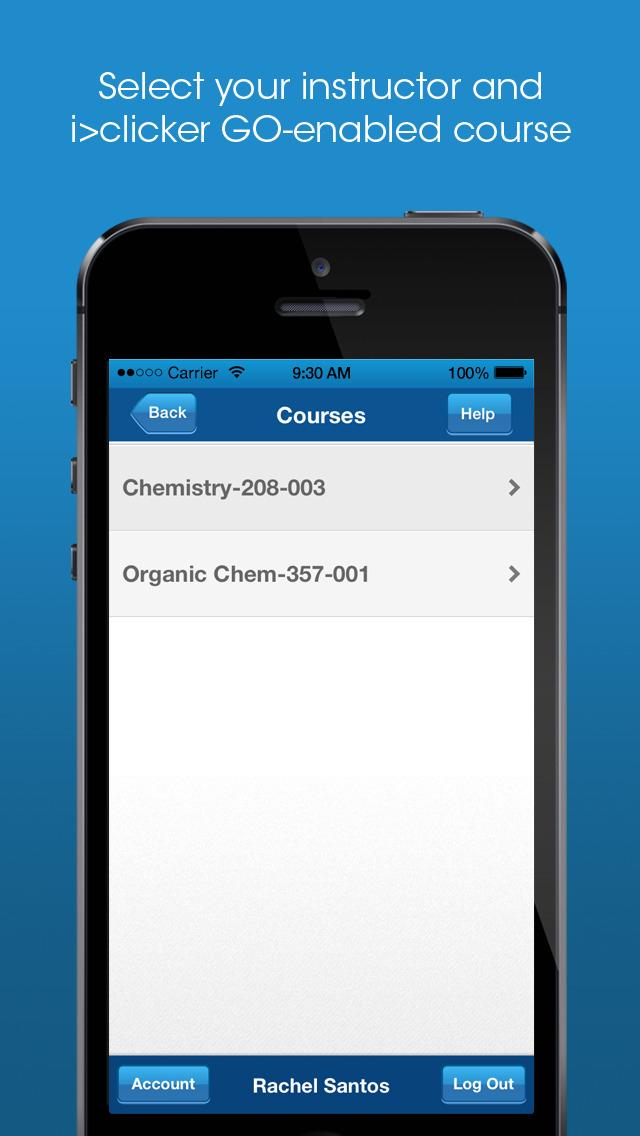 i>clicker GO – Mobile Classroom Clicker screenshot 2
