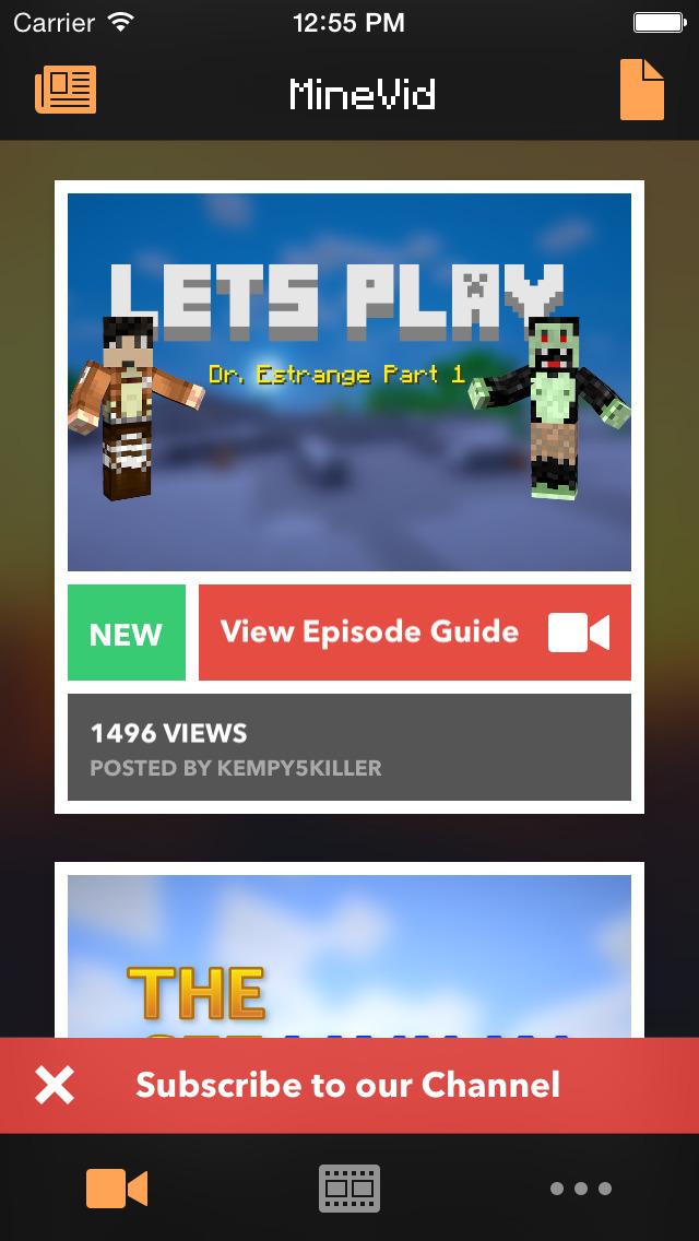 MineVid - Videos for Minecraft screenshot 1