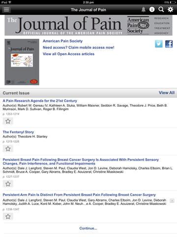 The Journal of Pain screenshot 9