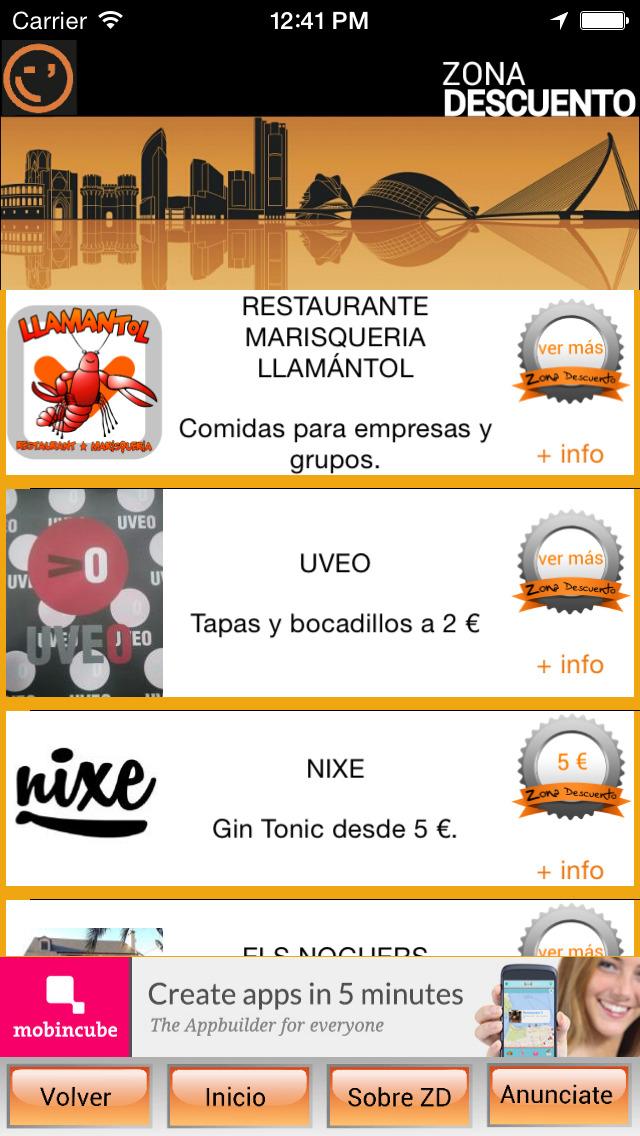 Zona Descuento Valencia - descubre los mejores planes screenshot 2