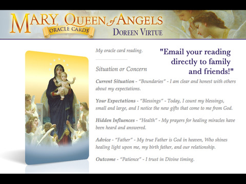 Mary, Queen of Angels Oracle Cards - Doreen Virtue, Ph.D. screenshot 6