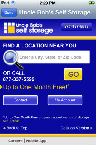 Uncle Bob's Self Storage App - náhled