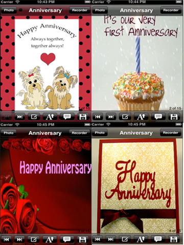 The Ultimate Anniversary eCards with Photo Editor.Customize and send anniversary eCards with text and voice greeting messages screenshot 6