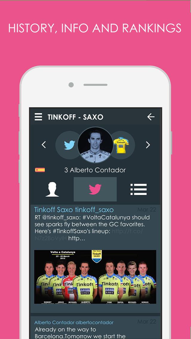 Giro d'Italia 2015 edition Pro - Cycling Tour App screenshot 1