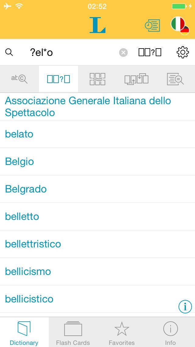 German Italian XL Dictionary screenshot 4