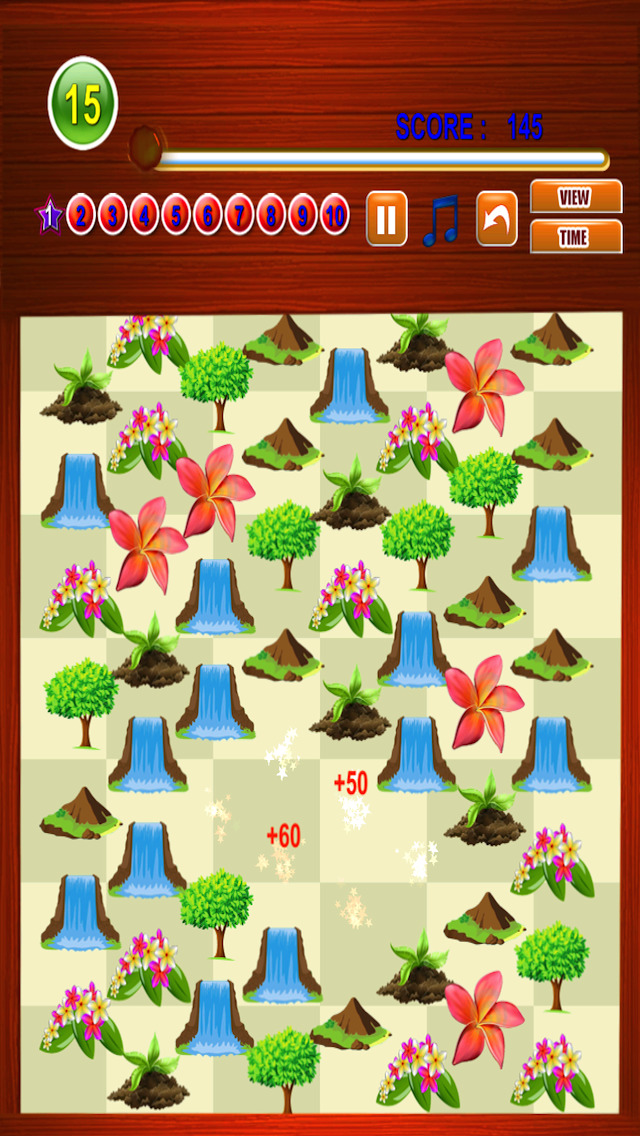 Free Match Game Nature Match Three screenshot 4