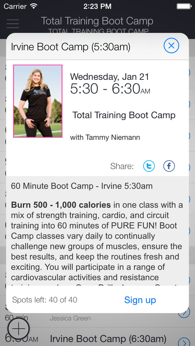 Total Training Boot Camp screenshot 2