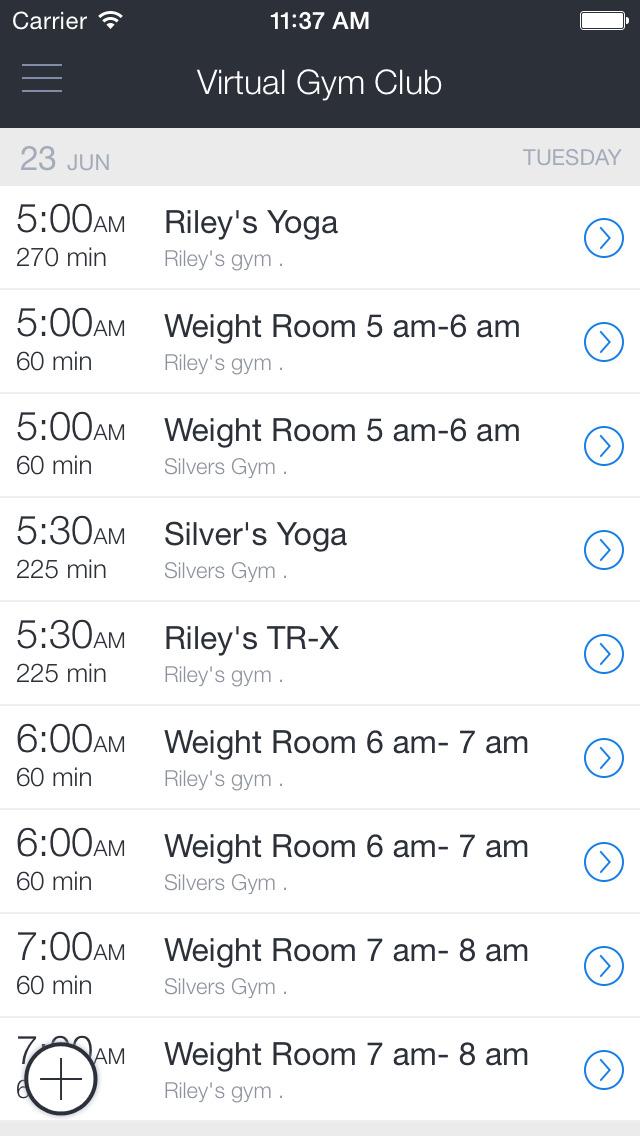 Virtual Gym Club screenshot 1