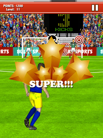 Soccer Kicks 2015 - Ultimate football penalty shootout game by BULKY SPORTS screenshot 7