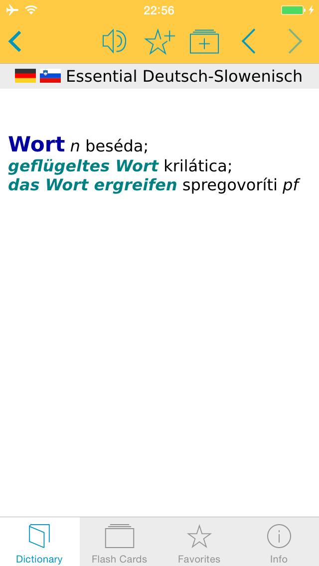 German Slovenian Dictionary screenshot 5