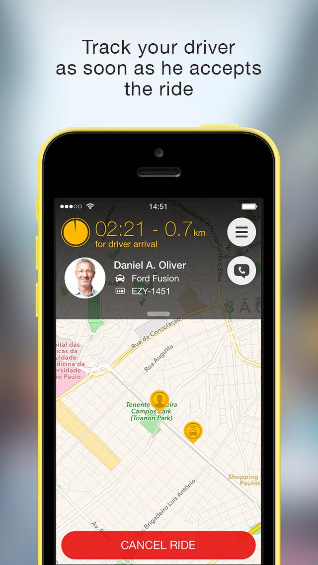Easy Taxi, a Cabify app screenshot 3