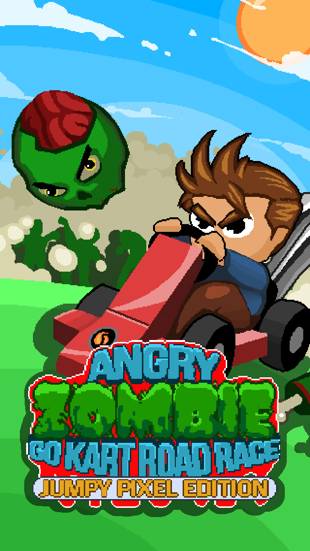 ` Angry Zombie Go Kart Road Race Free - Jumpy 8 Bit Pixel Edition by Top Crazy Games screenshot 5