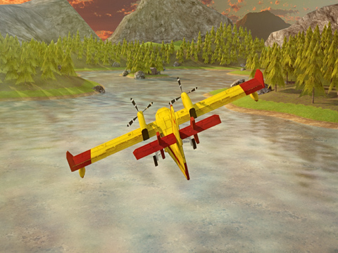 Airplane Firefighter Simulator - eXtreme 3D Landing Firefighting Emergency Rescue Flying Games screenshot 9