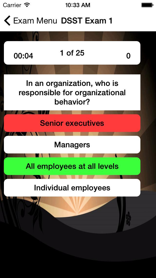 DSST Organizational Behavior screenshot 3