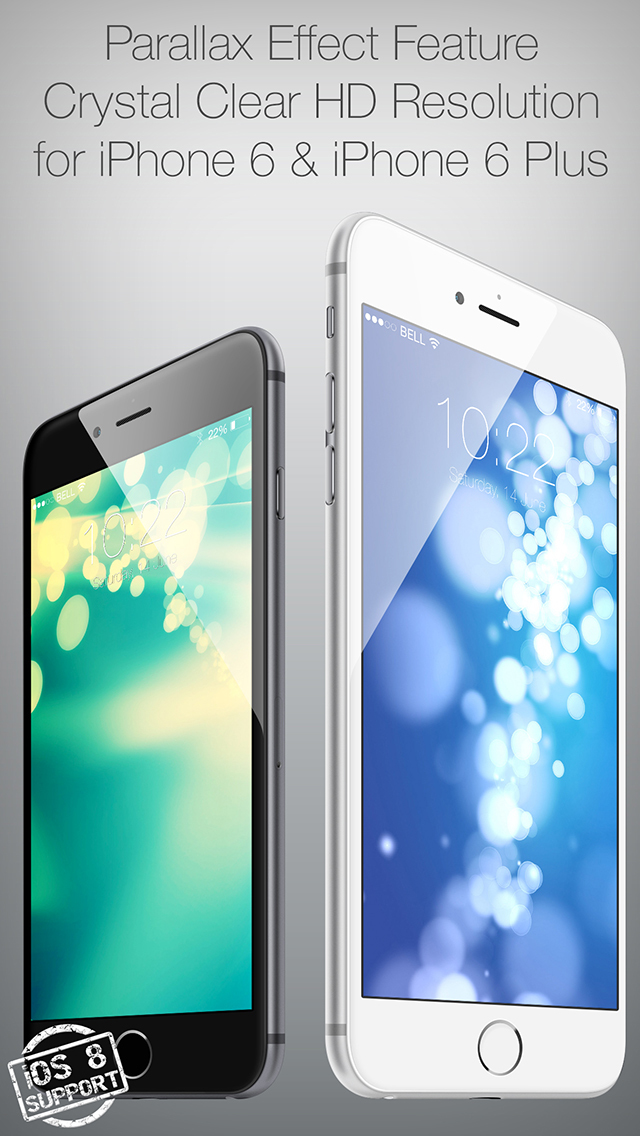 Colored 3D Wallpapers for Your New iPhone and iOS 8 screenshot 1