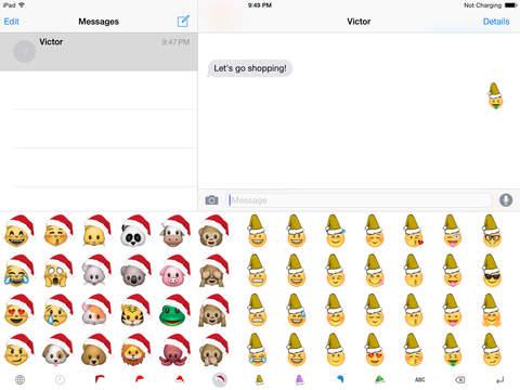 Christmas Emoji Keyboard screenshot 5
