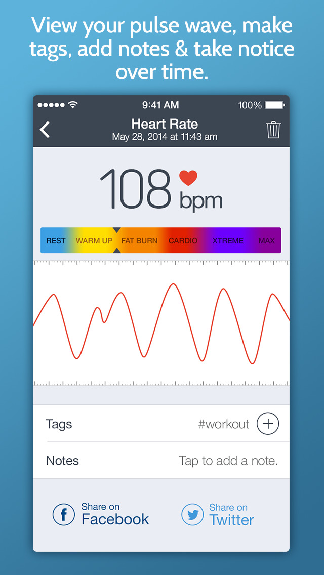 Instant Heart Rate Plus - Heart Rate Monitor by Azumio with workout training programs from Fitness Buddy screenshot 3