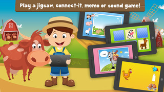 Milo's Free Mini Games for a wippersnapper - Barn and Farm Animals Cartoon screenshot 2
